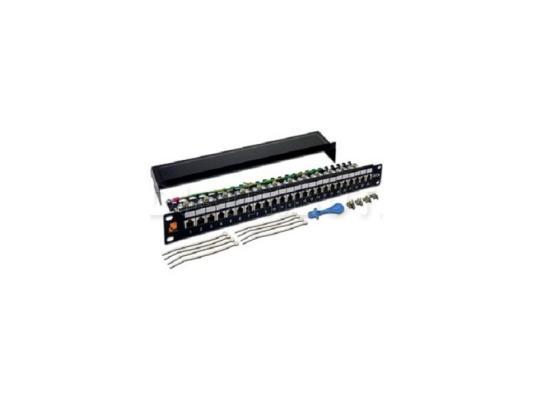 Патч-панель 19, 24 порта RJ-45, категория 6A, STP, 1U, LANMASTER патч панель наборная lanmaster twt pp24ok stp 19 1u 24xrj45 ftp