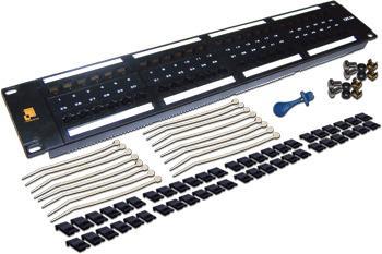 Патч-панель 19, 48 портов RJ-45, категория 6, UTP, 2U, LANMASTER патч панель lanmaster twt pp24utp 19 1u