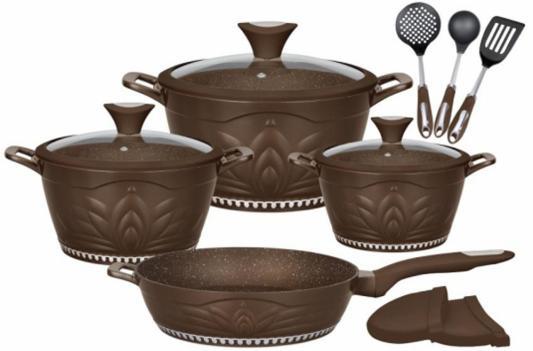 Картинка для 1305-WR Набор посуды WINNER  12 предметов. Состав: литой алюминий, нейлон. PRINCESS