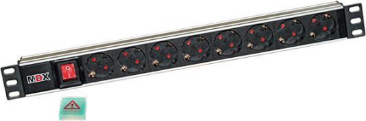 Блок розеток MDX MDX MDX-PDU-8E-10A-Sw 8 розеток цены онлайн