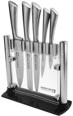 011-Hamilton Ножи и наборы ENDEVER Материал Лезвия сталь, рукоятка-сталь endever набор кухонных ножей в подставке 6 пр hamilton 011 endever