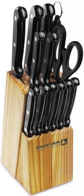 018-Hamilton Ножи и наборы ENDEVER.Материал лезвия: сталь.Материал рукояти: сталь. endever набор кухонных ножей в подставке 14 пр hamilton 018 endever