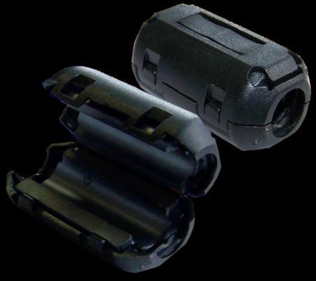 Фильтр ферритовый на шнур питания 3х1.5 мм2 с защелкой, черный