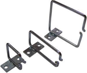 Металлическая скоба-органайзер для установки на 19&amp,quot, профиль, 40х40 мм