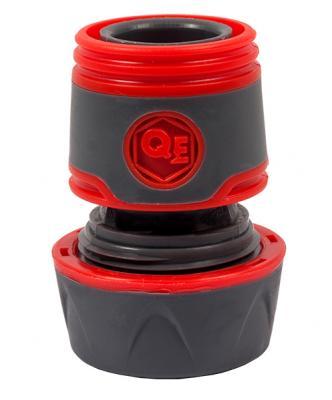 Соединитель QUATTRO ELEMENTI 646-096 быстроразъемный для шланга 3/4 мягкий пластик аквастоп пистолет quattro elementi 646 133 поливочный 8 ми режимный мягкий пластик