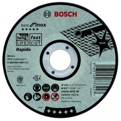 Картинка для Круг отрезной BOSCH Best for Inox 230x1,9x22 (2.608.603.500)  по нержавеющей стали