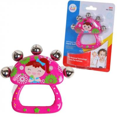 Интерактивная игрушка Huile Погремушка с бубенчиками от 3 месяцев цена