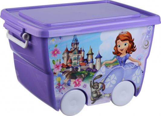 IDEA Ящик для игрушек Disney 24л лиловый