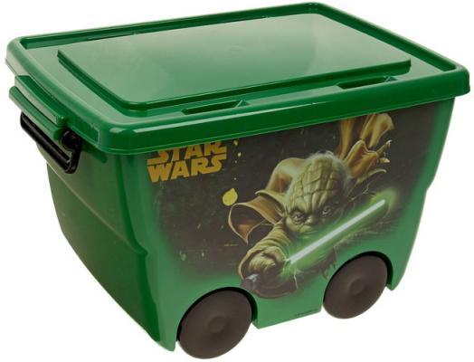 IDEA Ящик для игрушек Звездные войны 24л зеленый
