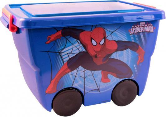 IDEA Ящик для игрушек Человек-Паук 24л синий