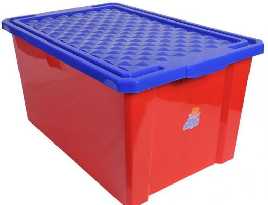 Фото Little Angel Ящик для игрушек Лего большой 57 л красный