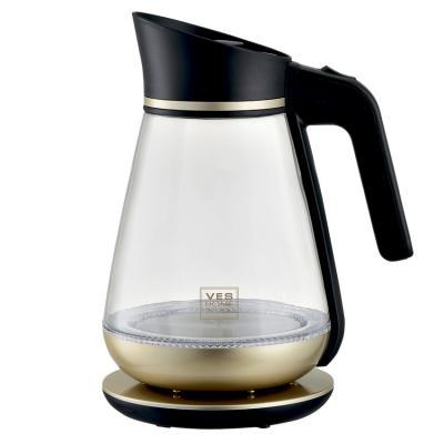 купить Чайник VES H-101-G 2200 Вт золотистый 1.5 л стекло по цене 1290 рублей