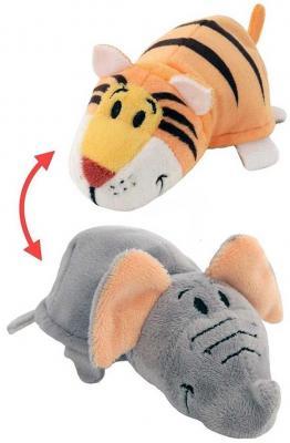 Мягкая игрушка Вывернушка 2в1 Тигр-Слон 35 см цена 2017
