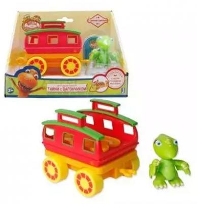 Игровой набор 1toy Поезд Динозавров 2 предмета самокат 1toy поезд динозавров 6 5 желто зеленый