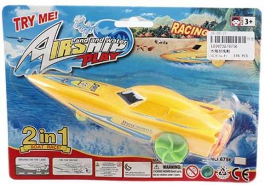 Катер Наша Игрушка Лодка с заводным механизмом желтый 6756 подвеска музыкальная с заводным механизмом