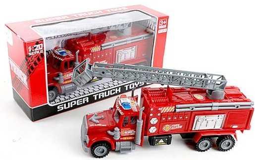 Пожарная машина Наша Игрушка Пожарная с телескопической вышкой красный 328-38 пожарная станция наша игрушка пожарная станция с дорогой красный 2 шт 5599 26a