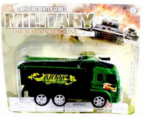 Автомобиль Наша Игрушка Военный грузовик зеленый 991-6