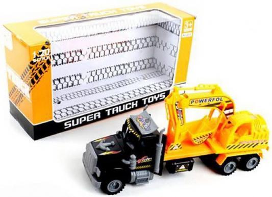 Грузовик Наша Игрушка Грузовая с ковшом желтый 328-34 грузовик наша игрушка грузовик оранжевый 11579 1