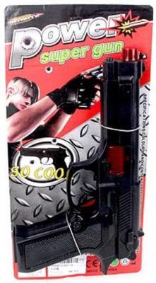 Купить Пистолет Наша Игрушка Пистолет черный 627-6, 14X5X29 см, для мальчика, Игрушечное оружие
