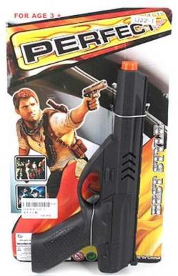 Пистолет Наша Игрушка Пистолет черный U22-1