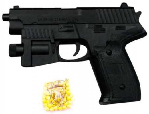 Купить Пистолет Наша Игрушка Пистолет черный 2002, 19X4X14 см, для мальчика, Игрушечное оружие