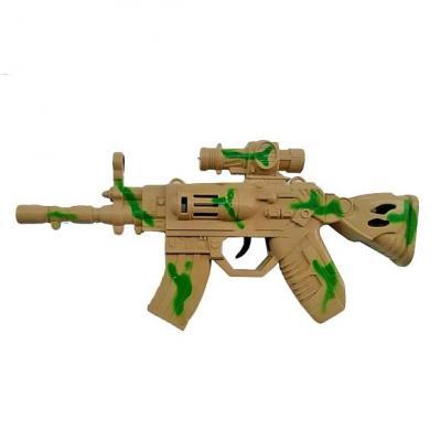Купить Автомат Наша Игрушка Автомат камуфляж 334-2, 14X4X30 см, для мальчика, Игрушечное оружие