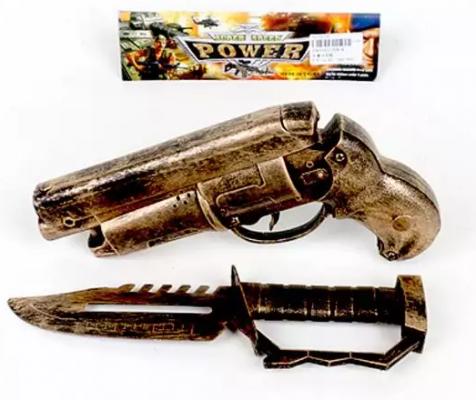 Игровой набор Наша Игрушка пистолет трещ., нож 2 предмета игровой набор наша игрушка турист 4 предмета 100909847