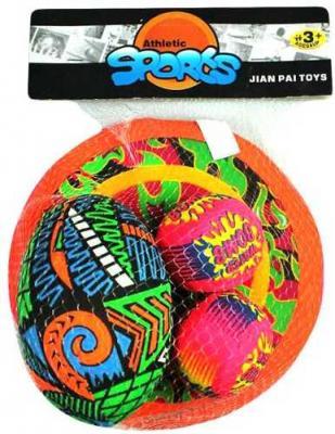 Тарелка и мячи 3 шт. для игр на воде, сетка