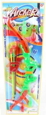 Лук со стрелами, стрелы 3шт., кегли 4 шт., блистер shenzhen ниндзя меч лук со стрелами нунчаки ninja rz1133 к37196