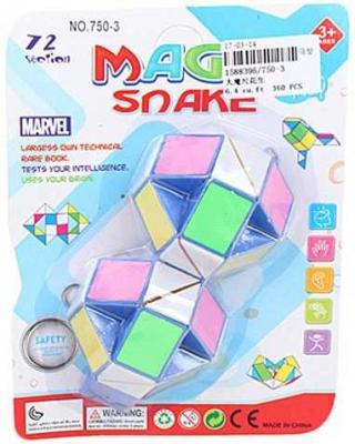 Змейка логич., 24 звена, разноцветная, блистер. freywille тонкая цепочка змейка