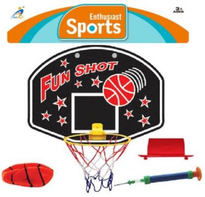 Набор для игры в баскетбол Наша Игрушка Бросок 4 предмета игровой набор для купания баскетбол bkids