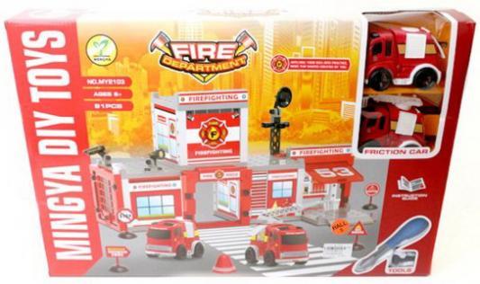 Купить Игр.набор Полицейский участок, машина инерц. 2шт, деталей 91шт., Наша Игрушка, для мальчика, Игровые наборы для мальчиков