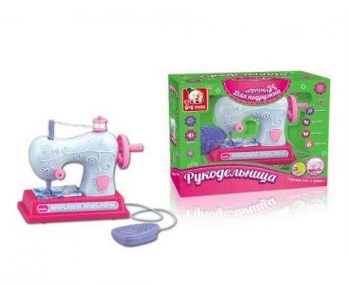 Швейная машинка Наша Игрушка Швейная машинка Рукодельница набор для детского творчества наша игрушка рукодельница бабочка