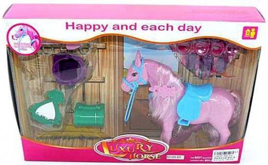 Фигурка Наша Игрушка Лошадка мерцающая на ранчо 686-651 игрушка наша игрушка лошадка 100694662
