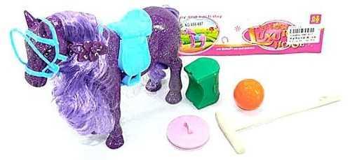 Фигурка Наша Игрушка Лошадка с пышной гривой 686-657 игрушка наша игрушка лошадка 100694662