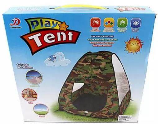 Палатка игровая Наша Игрушка Палатка игровая Военная 1toy детская игровая палатка красотка цвет желтый голубой