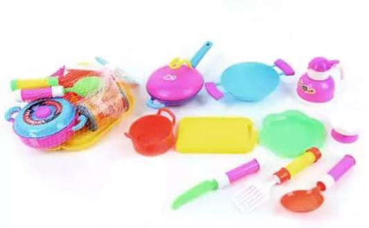 Набор посуды Наша Игрушка Набор цветной посуды 11 предметов игрушка mehano 1 f101 набор рельс