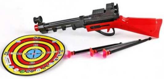 Купить Ружьё с присосками, мишень, Наша Игрушка, 16X3X34 см, Спортивные детские игры
