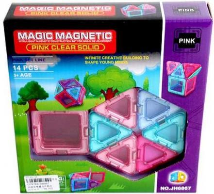 Магнитный конструктор Наша Игрушка Magic magnetic 14 элементов JH6867 цена