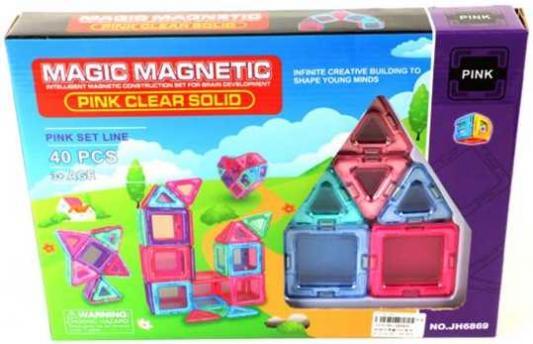 Магнитный конструктор Наша Игрушка Magic magnetic 40 элементов JH6869 цена