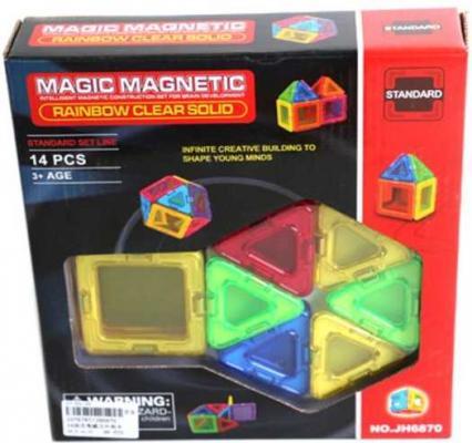Магнитный конструктор Наша Игрушка Magic magnetic 14 элементов JH6870 игрушка