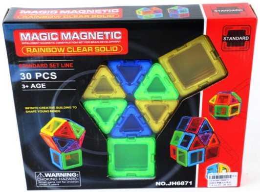 Магнитный конструктор Наша Игрушка Magic magnetic 30 элементов JH6871 цена