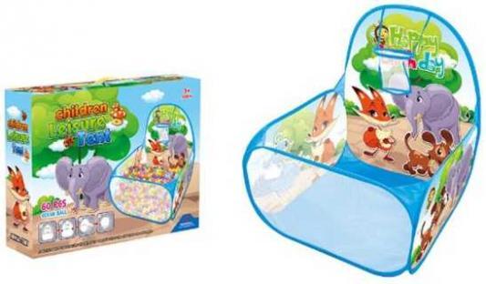 Манеж детский игровой Зверята, 59*59*74см, в комплекте пласт.шары 60шт., коробка детский манеж luckymango er145