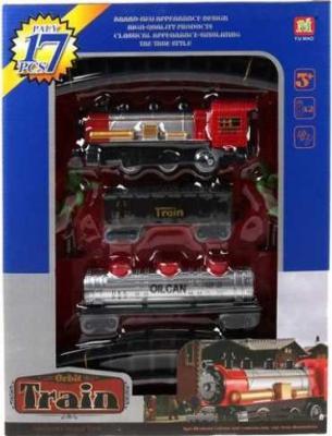Железная дорога Наша Игрушка Грузовой поезд, локомотив, вагон с 3-х лет 200045966 конструктор lepin creators грузовой поезд маерск 1234 дет 21006
