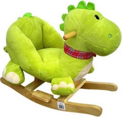 Каталка Наша Игрушка Динозаврик зеленый от 3 лет текстиль 61839 игрушка