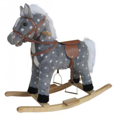 Каталка Наша Игрушка Лошадь в яблоках 62 см серый от 3 лет текстиль 611036