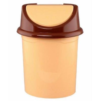 Ведро для мусора с подвижной крышкой Violet 0408/2 бежевый/коричневый