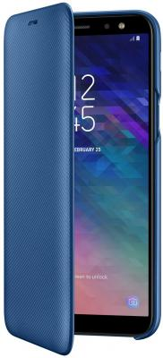 Чехол (флип-кейс) Samsung для Samsung Galaxy A6 (2018) Wallet Cover синий (EF-WA600CLEGRU)