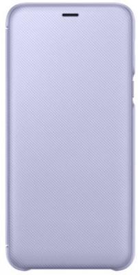 Чехол (флип-кейс) Samsung для Samsung Galaxy A6+ (2018) Wallet Cover фиолетовый- голубой (EF-WA605CVEGRU) чехол флип для philips s309 фиолетовый armorjacket