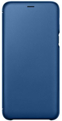 Чехол (флип-кейс) Samsung для Samsung Galaxy A6+ (2018) Wallet Cover синий (EF-WA605CLEGRU) samsung glitter cover ef xn920clegru blue